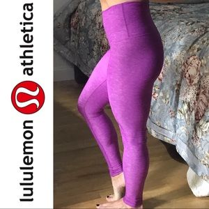 Lululemon purple high waist long leggings sz 4 new